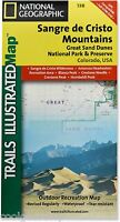 National Geographic Trails Illustrated Sangre De Cristo Great Sand Dunes Map 138