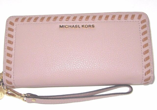 c79300dcf0f3 Michael Kors Lauryn Fawn Leather Travel Continental Wallet Whipped Stitched  $178