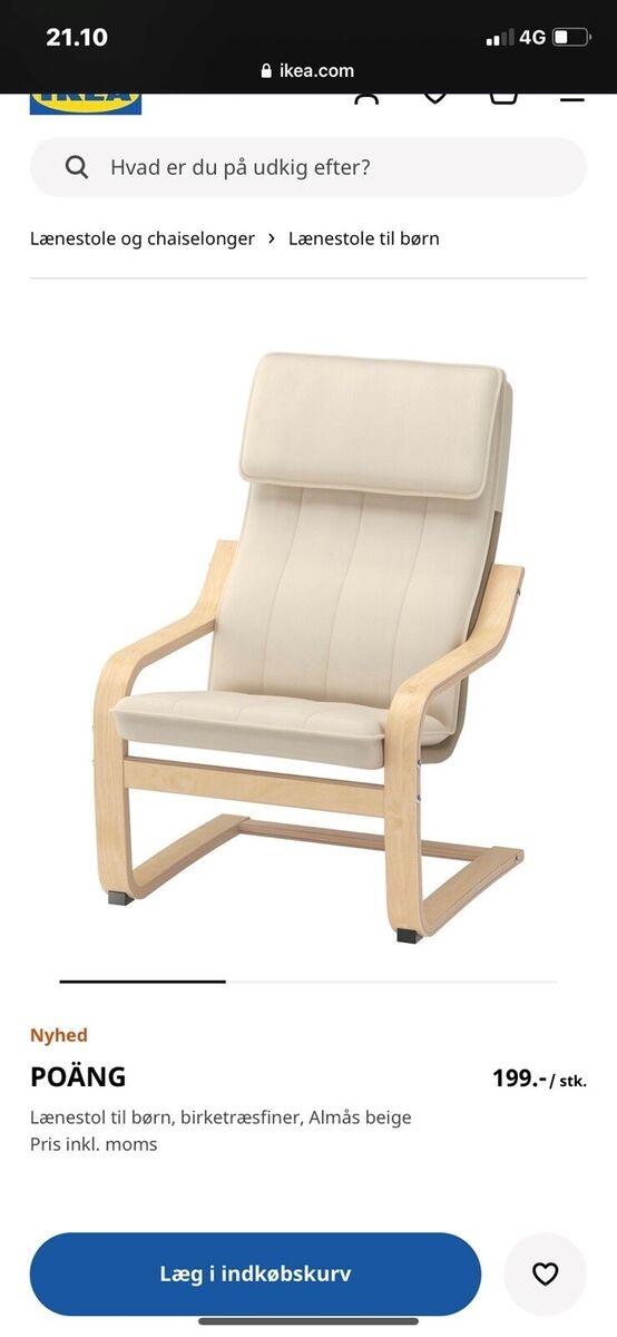 Lænestol, træ, Ikea, Børnelænestol fra Ikea. Næsten ikke