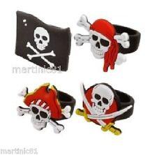 1 Pirata Anillo Chicos Chicas de botín de grupo Bolsa llenador de la media Kids Calavera Soft anillos