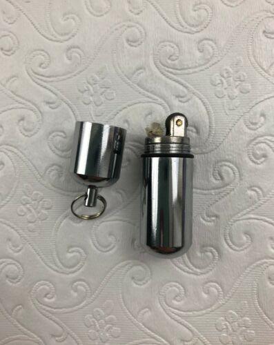 En acier chromé Peanut Lighter étanche de survie outil tactique Key Chain