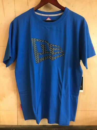 NEW ERA T SHIRT BLUE POLKA DOT TEE 59 FIFTY SZ M-2XL $32 MSRP NWT
