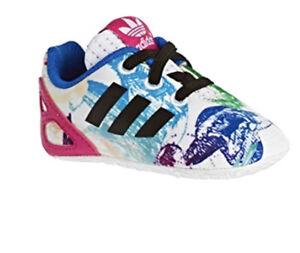 Details about Adidas Originals ZX Flux Girls Crib Shoes