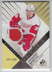 2016-17-UD-SPGU-ANTHONY-MANTHA-RC-JERSEY-342-399-ROOKIE-120-SP-Game-Used-Wings