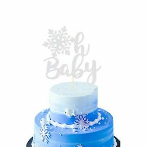 HEETON-Snowflake-Oh-Baby-Cake-Topper-for-Winter-Snowflake-Baby-Shower-Silver