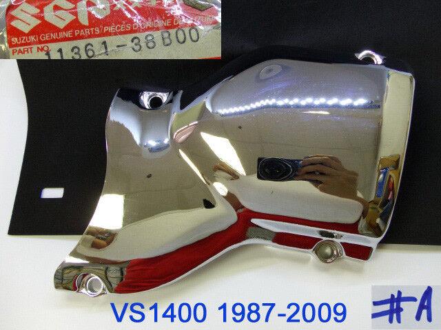 1987 Suzuki Intruder 1400 Vs1400glp Left Cover Secondary Case Chrome