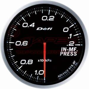 DEFI Link Meter ADVANCE BF Intake manifold Pressure Gauge White Face 60m DF10101