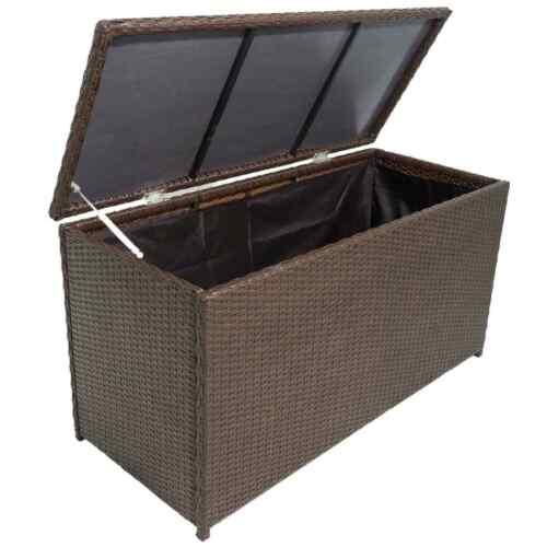 Polyrattan Garten Auflagenbox Gerätetruhe Kiste Gartentruhe Kissenbox Truhe Box