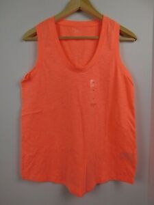 NWT-Gap-Women-039-s-Easy-Tank-Top-Neon-Coral-Round-Hem-Sizes-XS-S-M-L-New-Free-Ship
