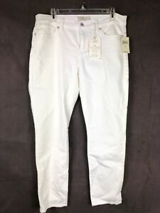 Lucky-Brand-NWT-Womens-White-Jeans-Sz-12-31-Super-Stretch-Brooke-Ankle-Skinny-82