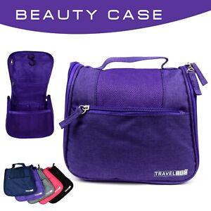 Beauty Case da Viaggio e da Bagno, con Gancio per Appenderlo, Unisex (Viola)