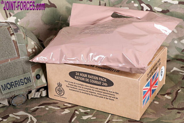 BRITISH ARMY MRE 24 HOUR RATION PACK MENU 10