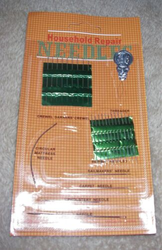 26 Assorted Household Repair Needles and Threader