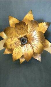 Vtg-Hollywood-Regency-Florentine-H-Kogl-style-Gold-Gilt-Leaf-Light-Lamp