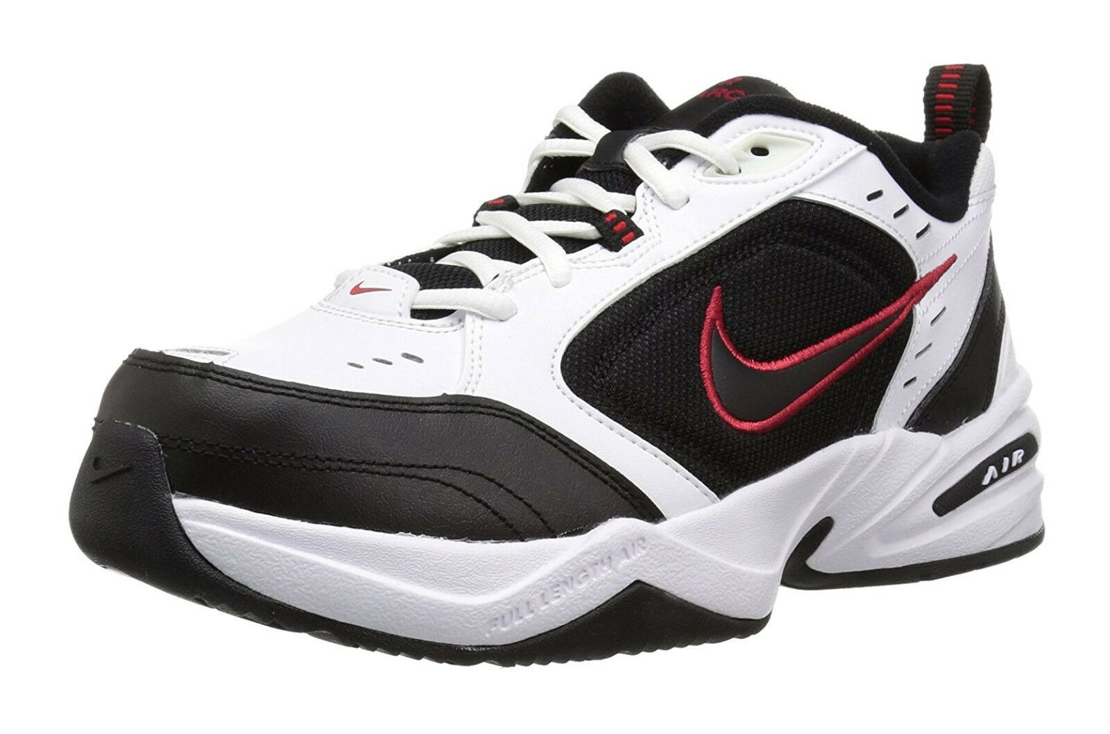 Nike Air Monarch IV Black, White Mens Training Sneakers Tennis Shoes 415445 101