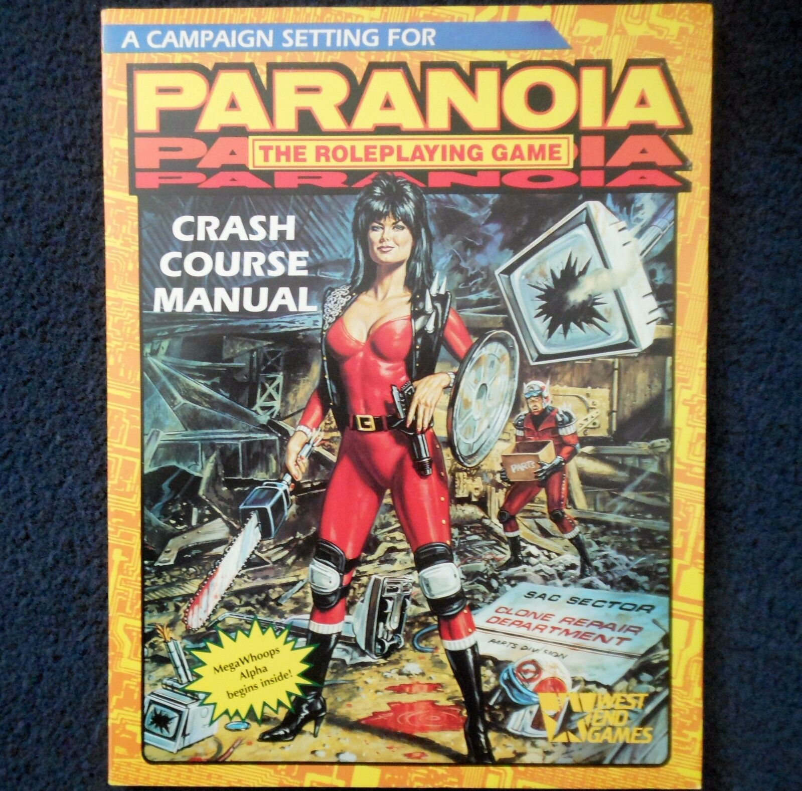 1989 Crash Course Manual Paranoia Adventure Module West End Games Roleplay 12020