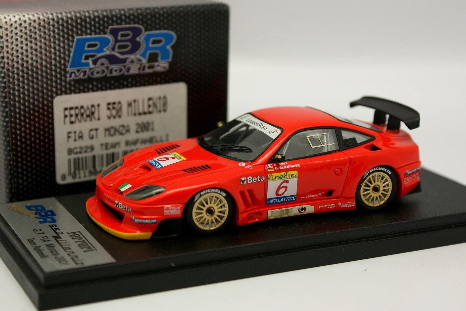 BBR 1 43 Ferrari 550 Millenio FIA GT Monza 2001 True No 6