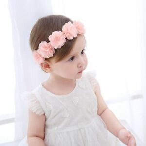 7d03f2cad16 1Pc Cute Baby Grils Kid Pink Lace Flower Headband Hair Band Headwear ...