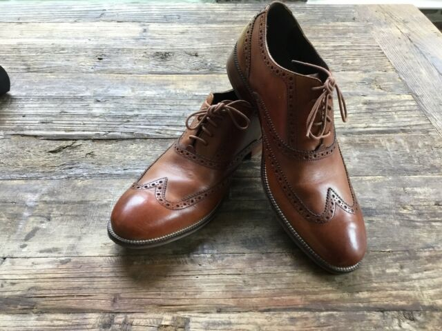 Stacked Heel Lace-up Oxford Shoes 9.5
