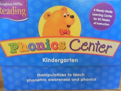 Houghton Mifflin Reading Phonics Center Kindergarten Grade K Manipulative 9780618075232 EBay