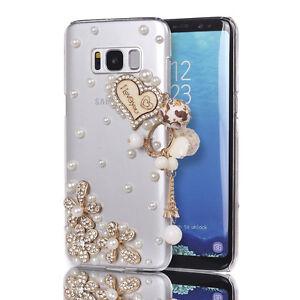 New Bling Glitter Slim Diamond Love Heart Clear Hard Cover Cases for ... 6ef55e6f7f