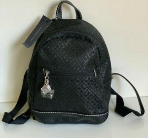 NEW-TOMMY-HILFIGER-BLACK-TRAVEL-BACKPACK-BAG-PURSE-88-SALE