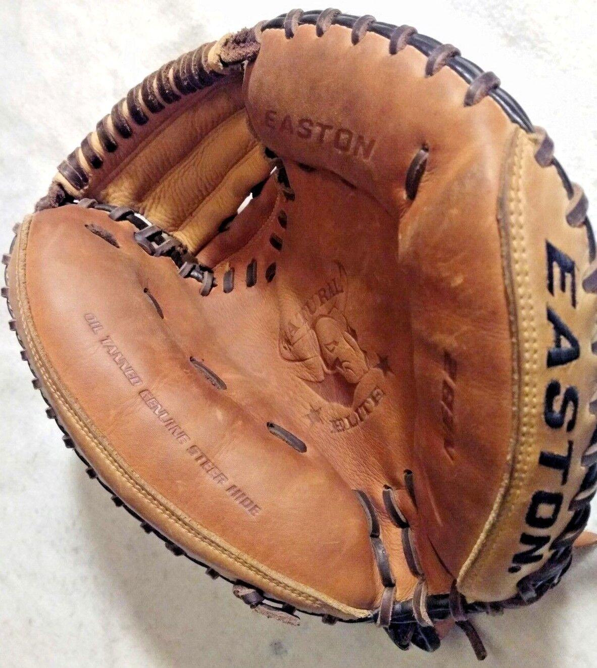 Easton Natural Elite RIGHT Catchers Mitt Glove Pelle RIGHT Elite HAND THROW Baseball NEB2 efa348