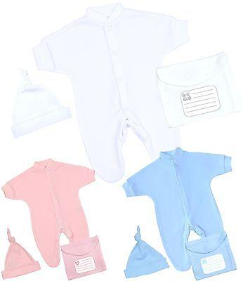 BabyPrem Baby Mädchen Kleidung Vorzeitige Baby Rosa Weiße Strickjacke 44-50 cm