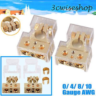 2x 0//4//8//10 AWG Batterieklemme Batterieklemmen Polklemmen Autobatterie Klemme DE