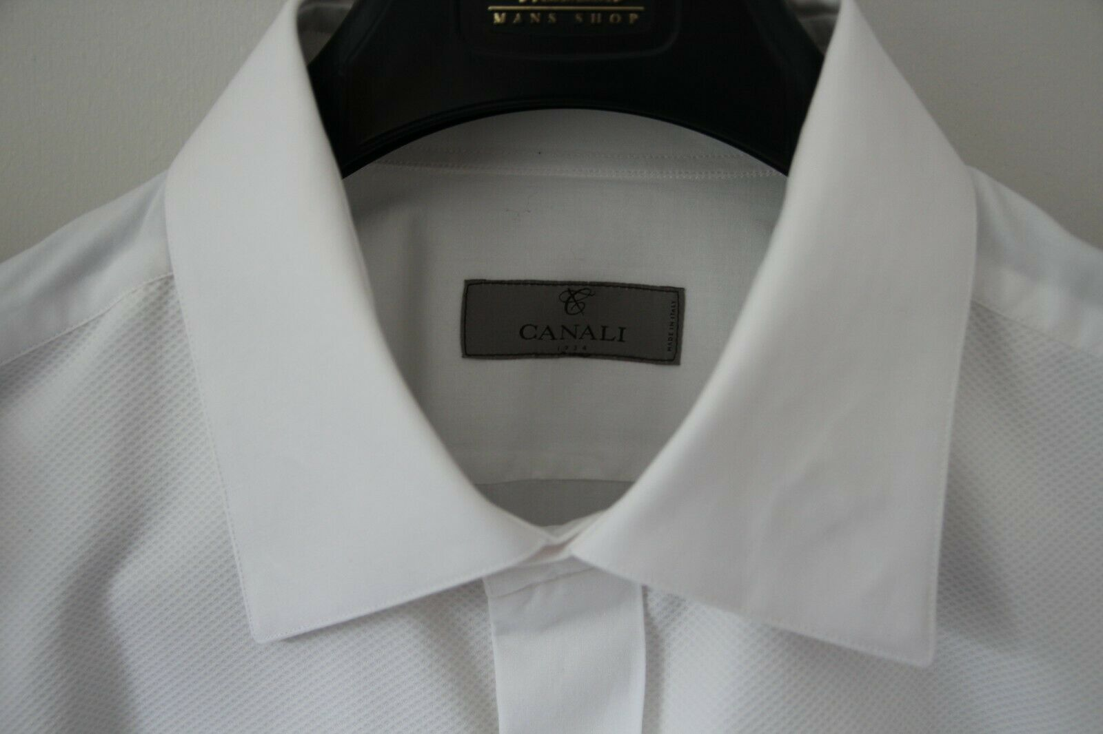 New CANALI WHITE COTTON PIQUE DRESS SHIRT WITH PLEATED FRONT from HARRODS