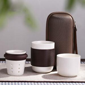 4pcs/set Travel Tea Set Ceramic Portable Kung fu Tea Set Chinese Porcelain New