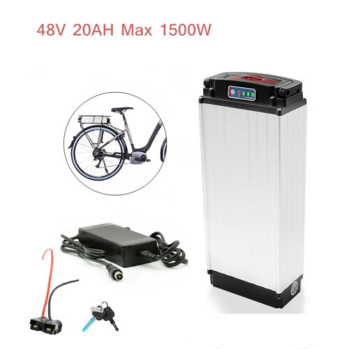 Keys US Stock 24//36//48V 10//12//20Ah Lithium Electric Bike Battery with Charger