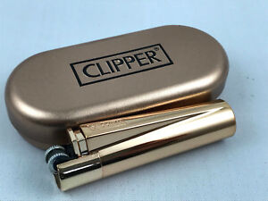 Clipper-Metall-Rose-Kupfer-Poliert-Feuerzeug-Box-ovp-Edel-Design