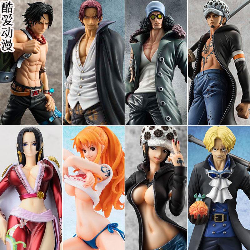 One Piece Anime Figure POP Luffy Nami Sanji Zgold Ace Sabo Toy Gifts Model