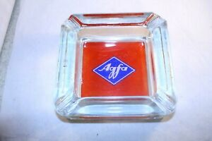 Vtg-AGFA-Made-in-Germany-photography-advertising-Glass-Ashtray-rare