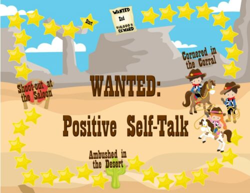 Self-Esteem Depression Wanted Positive Self-Talk CBT Counseling Game