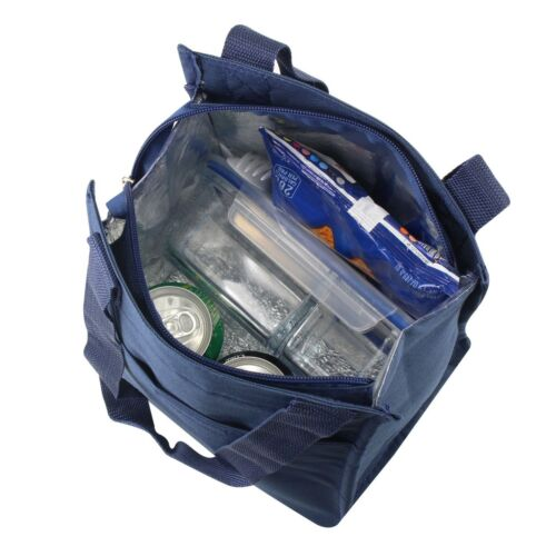 Nylon Insulated Lunch Tote Bag Thermal Cooler Lunch Box Carry Tote Serape Navy