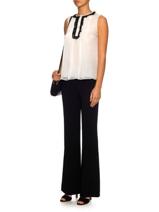 Diane Von Furstenburg Betsy Silk Tuxedo Blouse Bl… - image 10