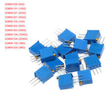 New Listing50 100 200 To 2m 3296w Precision Multiturn Variable Resistors Potentiometer