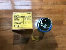 Hubbell 3100p6 Pin Amp Sleeve 2 Pole 3 Wire Watertight Male Plug 100 Amp 250v New
