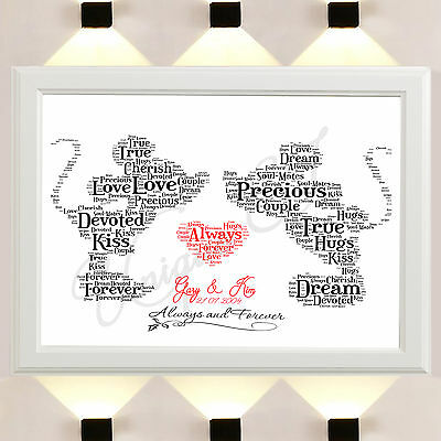 Mickey Minnie Mouse Word Art Print