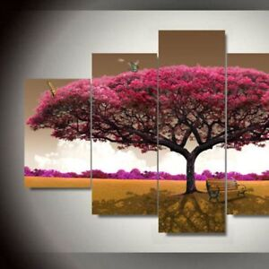 Details About 5pc 3d Diy Oil Painting Picture Trees Canvas Wall Art Print Frameless Poster