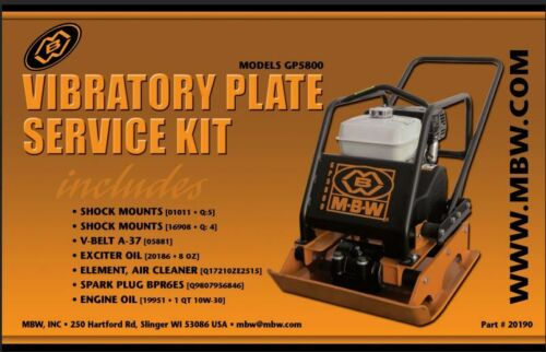 MBW Plate Compactor GP5800 Service Kit w//Honda Engine