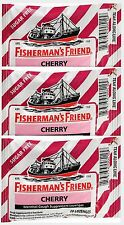 Fisherman's Friend CHERRY Menthol Cough Lozenges 20 ct bags (3 pack)***