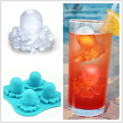 Octopus Ice Tray Ice Cubes DIY Mould Pudding Jelly Mold Silicone Bar Party Drink