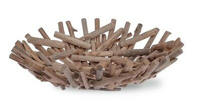 Coastal Nautical Lake Beach Home Decor - Driftwood Bowl Table Centerpiece 17""