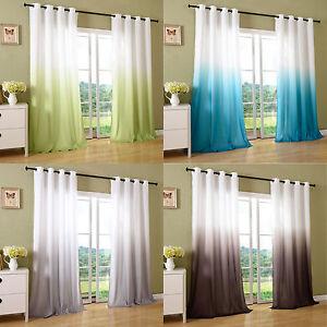 schal blickdicht vorhang sen gardine microsatin farbverlauf microfaser 204252 ebay. Black Bedroom Furniture Sets. Home Design Ideas