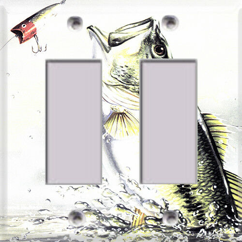 Fishing Bass Themed Light Switch Cover Choose Your Cover
