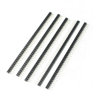 5Pcs 2.54mm 40 Pin Female Single Row Pin Header Strip New Good