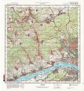 Russian Soviet Military Topographic Maps - WIESBADEN (Germany),1:50 ...
